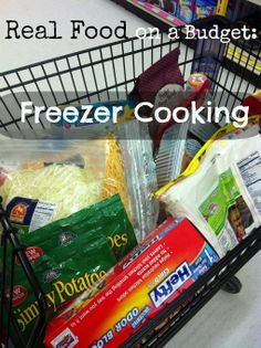 Real Food on a Budget: Freezer Cooking  this is hepful to learn the lingo @Alana McCamish we'll probably want dump and go meals although you and the marsh would be goot at single protein at a time