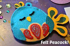 Pom Tree Pillow Puffs Felt Peacock Craft