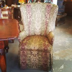 Set of Captain Wing back Dining Chairs.