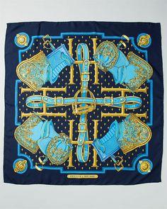 ****Hermes 'Selles A House' Silk Scarf  RUELALA.COM  $349