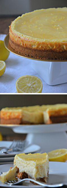Tarta de queso y limón / http://www.mountainmamacooks.com/