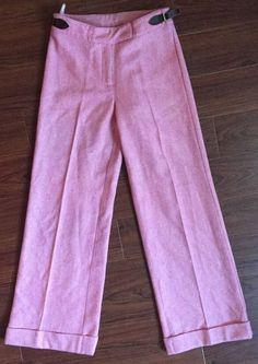 Lilly Pulitzer Women's Pink Herringbone Wool Blend Wide Leg Pants Size 2 $198 | eBay