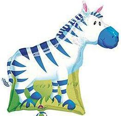 Create the perfect Safari look with these 27 inch Zebra Mylar Balloons. Fill them with helium and tie several together for the perfect balloon bouquets.,Create the perfect Safari look with these 27 inch Zebra Mylar Balloons. Fill them with helium and tie several together for the perfect balloon bouquets.