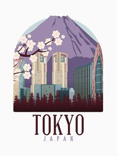 Japan Art, Tokyo Japan, Asia Travel, Travel City, Wonderful Dream, Doodle Drawings, Travel Posters, Lovers Art, Find Art