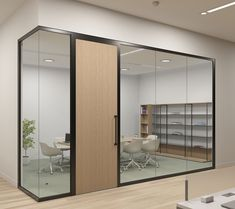 Teknion has unveiled Tek Vue, the brand's latest architectural interiors product offering. A glass office-front system, Tek Vue responds to the essential needs of the modern workplace. Corporate Office Design, Office Space Design, Modern Office Design, Office Furniture Design, Office Interior Design, Office Interiors, Glass Partition Designs, Glass Office Partitions, Glass Wall Design