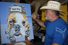 bulldog painting in progress by drago