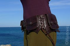 Leather Utility Hip Belt _LAWAH.Br_ High Quality