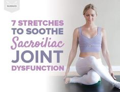 Lower back pain here are 7 stretches to soothe si joint dysfunction radiofrequency ablation rfa for facet and sacroiliac joint pain Sacroiliac Joint Dysfunction, Si Joint Pain, Sore Hip Joint, Rheumatoid Arthritis Treatment, Back Pain Exercises, Yoga Exercises, Hip Stretches, Knee Pain, Hip Pain