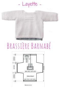 Idéale pour les beaux jours, cette petite brassière est proposée en tailles naissance à 12 mois #tricot #layette #bébé