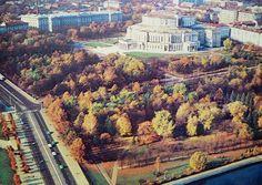 Минск. Парк Янки Купалы и оперный театр. 1981 год