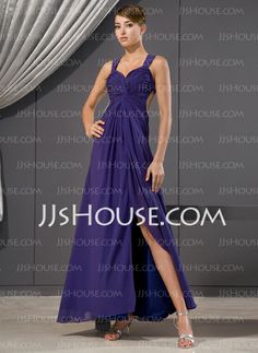 Evening Dresses - $132.99 - Sheath Sweetheart Ankle-Length Chiffon Evening Dress With Ruffle Beading Sequins (017014480) http://jjshouse.com/Sheath-Sweetheart-Ankle-Length-Chiffon-Evening-Dress-With-Ruffle-Beading-Sequins-017014480-g14480