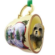 Dandie Dinmont Dog Breed Decorative Snowman Tea Cup