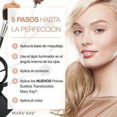 Consigue tu maquillaje perfecto en 5 pasos.