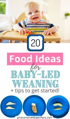 We love baby-led weaning and recommend it to all my mom friends! Here is a guide on how to get started with baby-led weaning and 20 first food ideas based on what my kiddo actually tried! If you aren't here yet, pin now to save for later. #babyledweaning #blw #firstfood Weaning Toddler, Baby Led Weaning First Foods, Weaning Foods, Baby Weaning, Baby Feeding Schedule, Baby Snacks, Vegan Baby, Healthy Toddler Meals, Baby Finger Foods