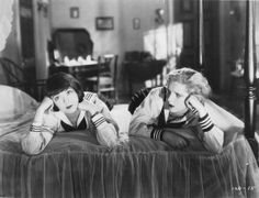 """Colleen Moore and Diane Ellis in """"HAPPINESS AHEAD"""" (1928)"""