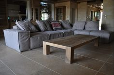 Custom made coffee table, solid wood, oak, Greek interior design Made Coffee Table, Coffee Tables, Greek Design, Custom Made, Sofas, Solid Wood, Couch, Interior Design, Furniture