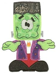 JUMBO Frankenstein Applique - 8X8 and Larger! | Halloween | Machine Embroidery Designs | SWAKembroidery.com Designs by Juju