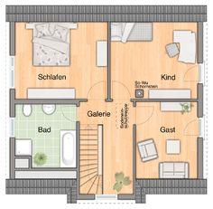 Grundriss Obergeschoss Musterhaus Ellersdorf