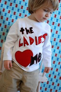 Ladies love me, Valentines day baby boy, shirt, 6 to 12 month, 12 to 18 month, 18 to 24 month, 2 T, 3 T, 4 T $18.95