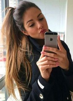Long thick ponytail, never goes out of style