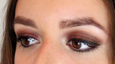 Ojos ahumados de otoño - tutorial de maquillaje. Urban Decay Naked 1 tutorial / Brown and burgundy smokey eyes