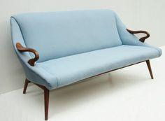Baby Blue Sofa   Danish Modern
