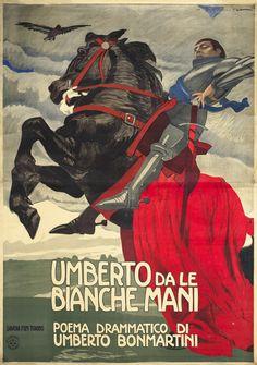 Poster by Marcello Dudovich, ca 1913,  Umberto de la Bianche Mani.