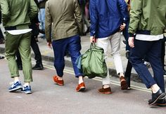 #streetstyle MILITAR GREEN IS COMING | Tommy Ton Shoots London Menswear Collections | Olive green and navy blue are the next best thing in menswear.
