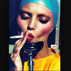 Have a smokingday. Photo #mertandmarcus makeup @lucia_pieroni