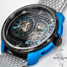 That blue the newly announced @Hautlence HLRQ04 featuring blued steel case elements and the brand's signature jumping hours and retrograde minutes complications.