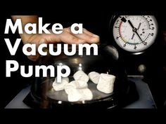 How to make a vacuum pump with some pvc pipe and a little elbow grease.