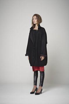 Opaque Coat - Black Wool