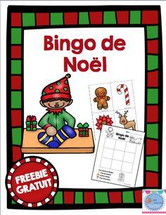 FREEBIE: Bingo de Noël Christmas Bingo, Noel Christmas, Christmas Themes, Holiday Activities, Holiday Crafts, Free In French, French Christmas, Theme Noel, Teaching French