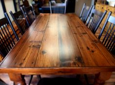 Harvest Tables On Pinterest Farm House Tables Live Edge
