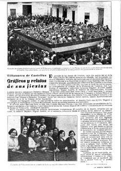 Crònica de les festes de Vva. de Castellón (València) en La Semana Gráfica. Octubre de 1930.