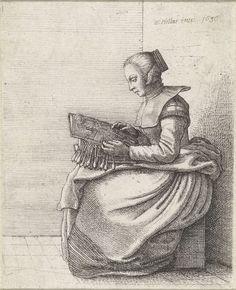 Lacemaker, Wenceslaus Hollar, 1636