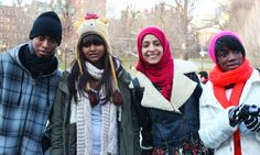 PMC students love ice skating on Frog Pond in the Boston Common every winter! From left to right are Anilson, Senait, Hareem and Tammy.