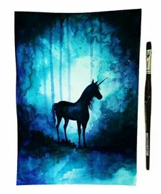 Super ideas for love art sketches paintings Unicorn Painting, Galaxy Painting, Unicorn Art, Unicorn Drawing, Fantasy Kunst, Fantasy Art, Silhouette Painting, Art Plastique, Love Art