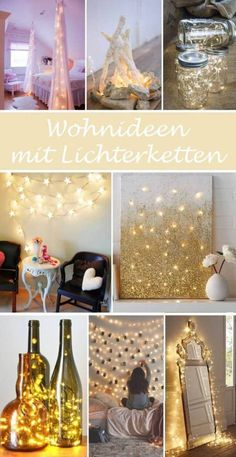 DIY Wohnideen mit Lichterketten