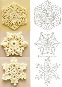 Crochet Snowflakes: diagram.    may make some different patterns from last year