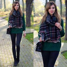Sheinside Green Knit Pullover, Romwe Rings