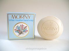 MORNY White Heather Hand Soap with box, vintage traditional English toiletry, retro vanity product, by Royal Appointment, cottage chic style, by VintageImageBox