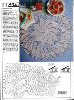 1000 Mailles № 115 — Yandex. Col Crochet, Crochet Doily Diagram, Crochet Motif Patterns, Crochet Mandala, Crochet Chart, Crochet Home, Thread Crochet, Crochet Granny, Filet Crochet