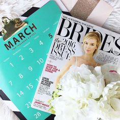 Get acquainted with all things bridal by picking up issues of BRIDES and your local bridal magazines. That way, you'll get an inside and quick look at current trends and even wedding industry news. Fold down pages that include ideas or items you like, or cut them out and make a vision board.