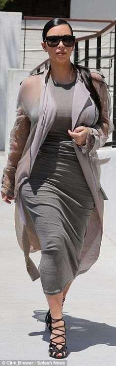 For work: Kim and Khloe were also at the same venue for their film day