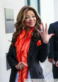 Newly Engaged La Toya Jackson Flashes Her Engagement Ring