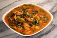 Chicken Sweet Potato Curry: I omitted whatever I didn't have and swapped the sweet potatoes for a can of pumpkin puree. It was amazing! Add tons of extra vegetables and use a crock pot.