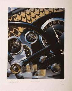 Just A Car Guy : art deco painting of Alain Lévesque