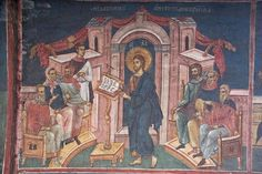 Jesus reads from the Book of Isaiah.