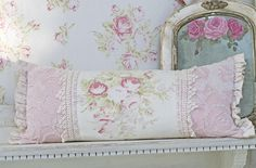 shabby chic pillows | Found on vintagerosecollection.com